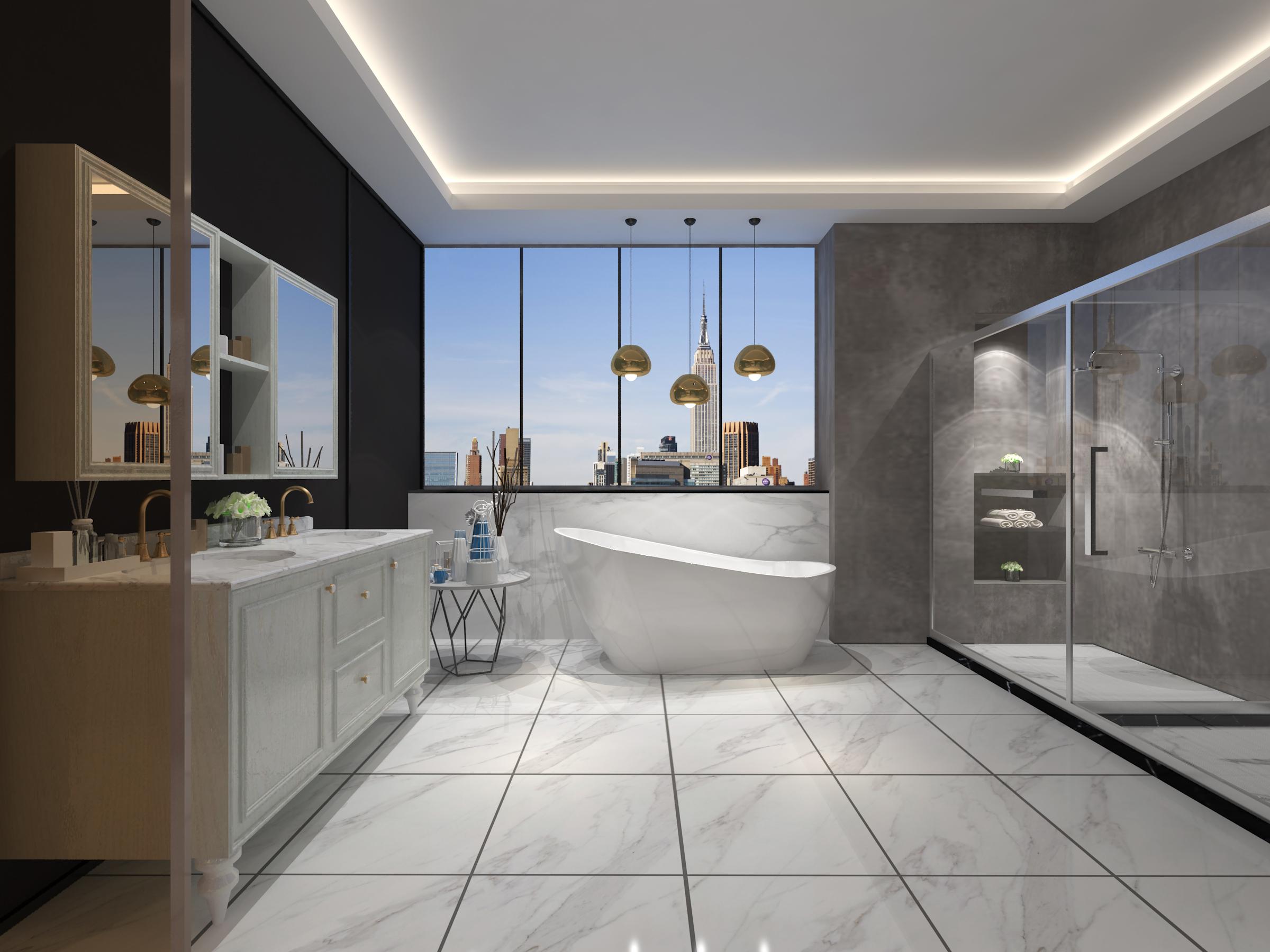 浴室清洁勤简快,清理浴室放大招