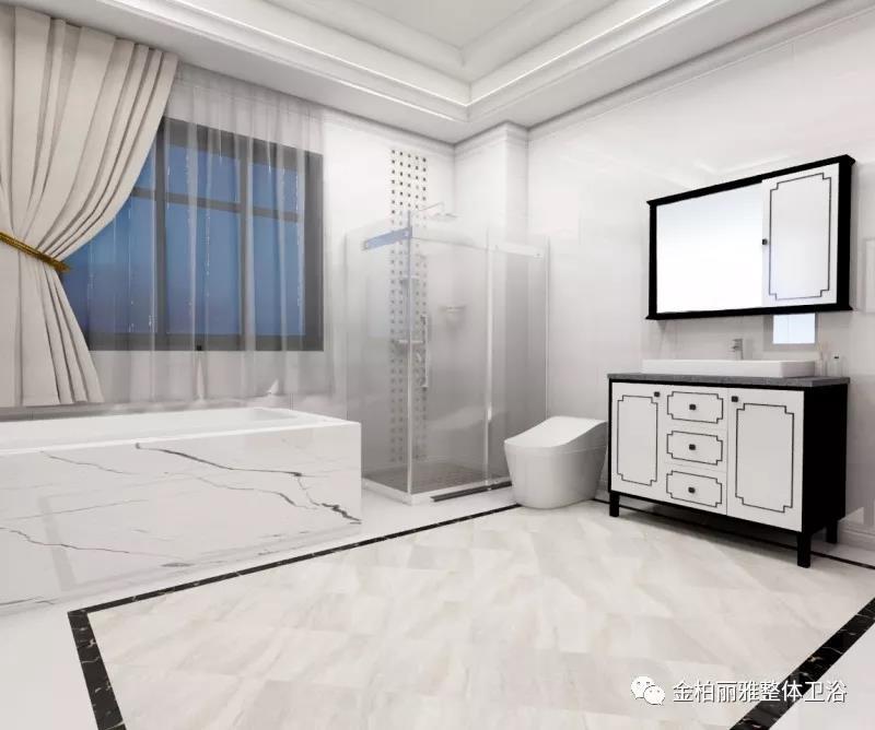 给卫生间改头换面 卫浴洁具营造惬意简欧风