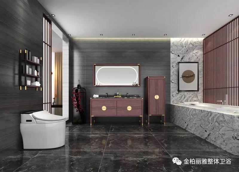 金柏丽雅新中式古典主义浴室柜,重新演绎东方经典与美